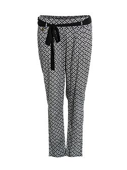 Mouse straight leg printed trousers