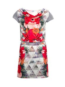Smash Blomma short sleeve  printed dress