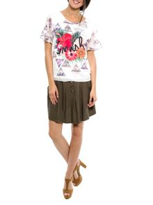 Smash Tafna short sleeve printed top