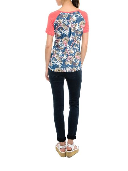 Smash Parallel short sleeve printed top