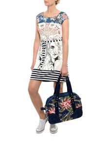 Smash Irataua a-lin printed dress