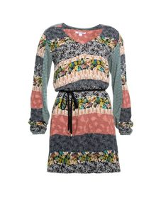 Smash Clovisa long sleeve a-line printed dress