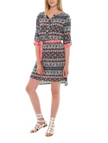 Smash Valeria three quarter sleeve printed shift dress
