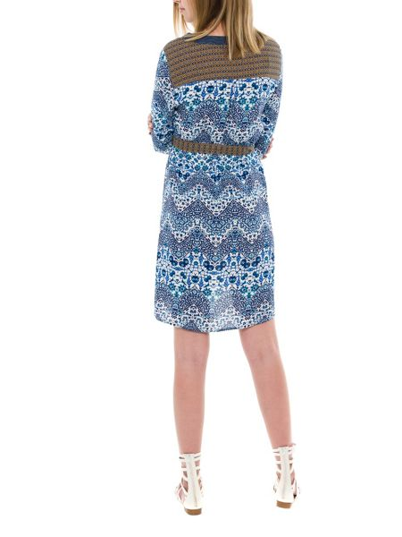 Smash Vester three quarter sleeve printed shift dress