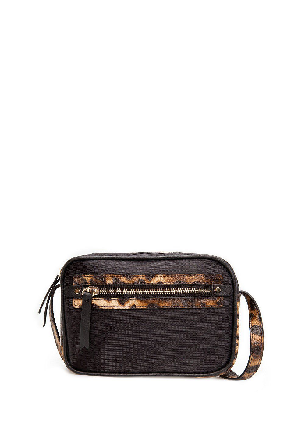 Saffiano detail cross body bag