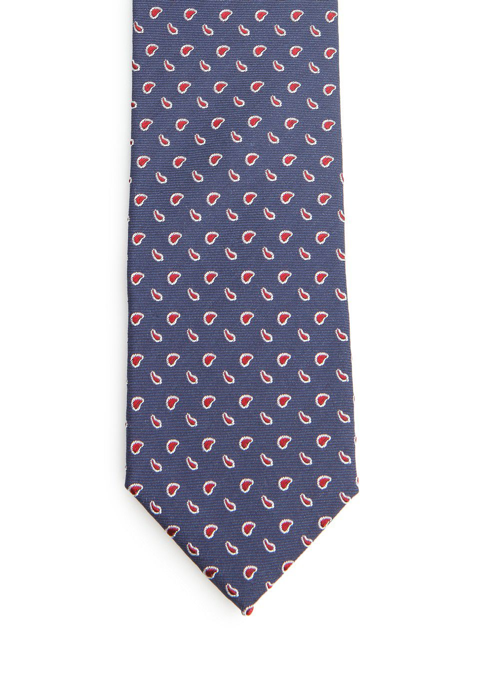 Paisley silk cotton-blend tie