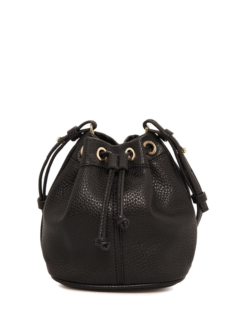 Pebbled bucket bag