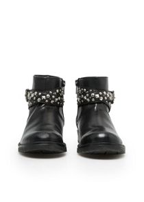 Girls studded biker ankle boots