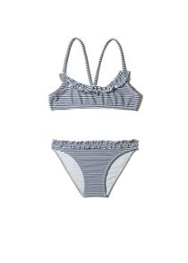 Girls Striped Bandeau Bikini