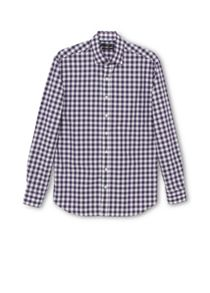Mango Gingham Slim Fit Long Sleeve Button Down Shirt