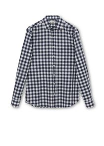 Cheq slim-fit gingham check shirt