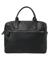 Willy5-e c zip-pocket pebbled tote briefcase