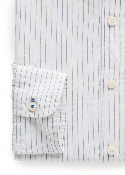 Mango Slim-fit striped shirt