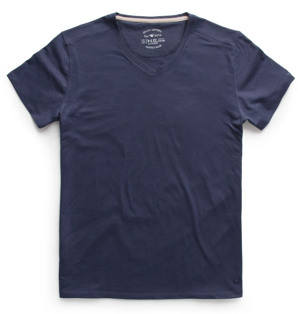 Embroidered v-neck t-shirt