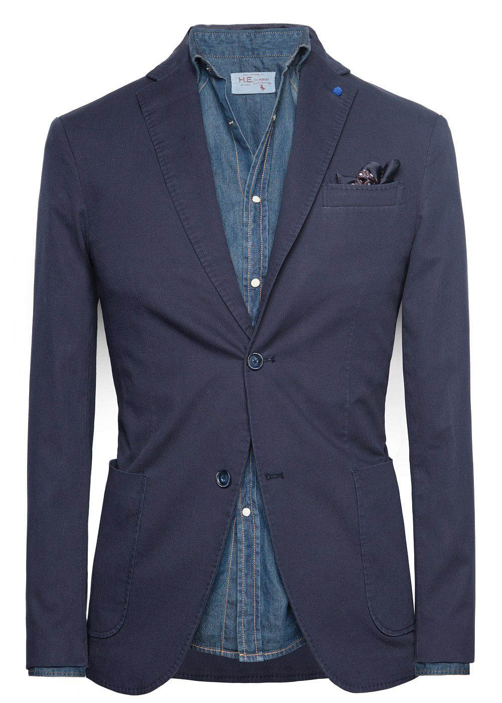 Casual slim fit stripe textured blazer