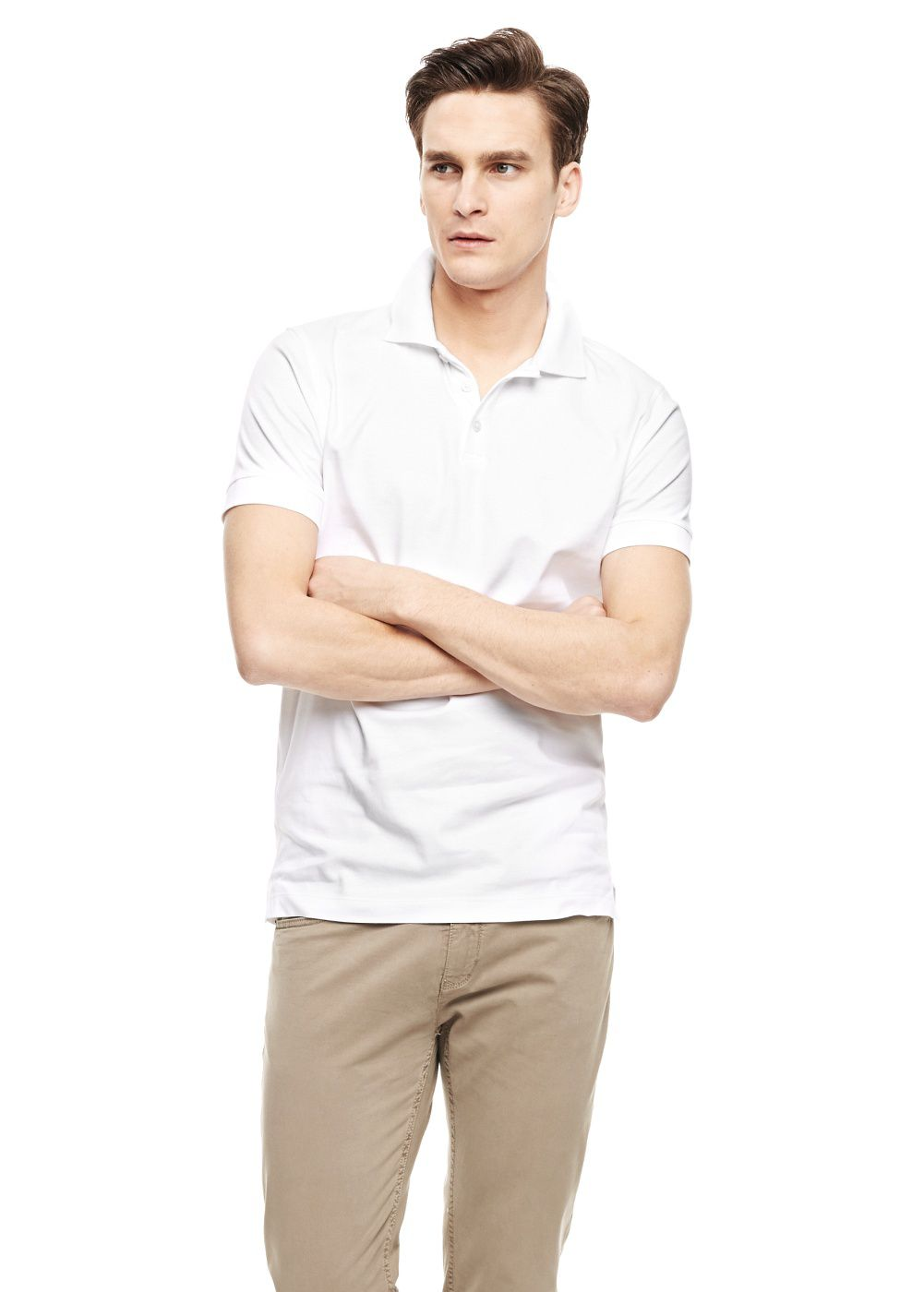 Slim-fit premium cotton shirt