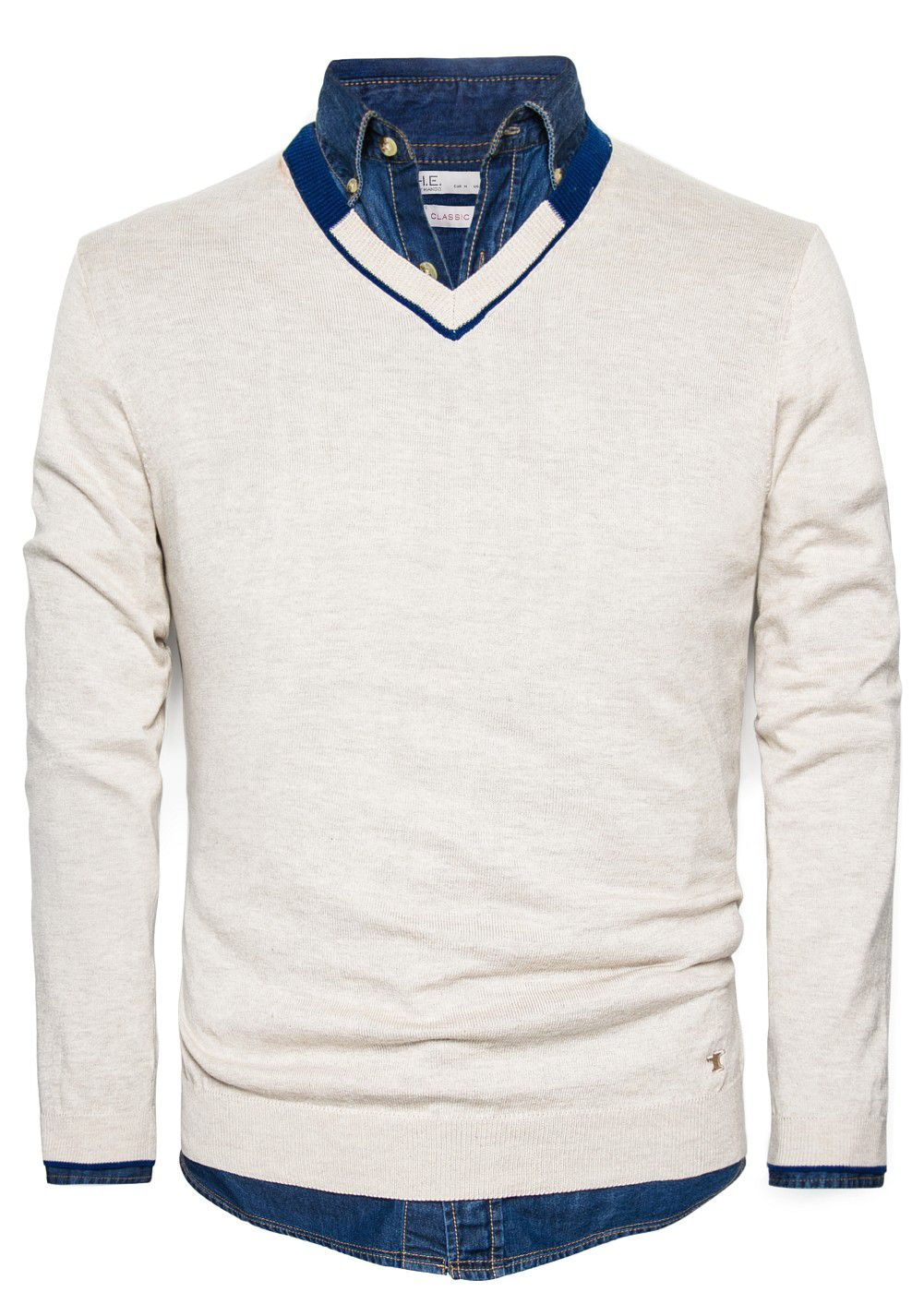 Cashmere cotton-blend sweater