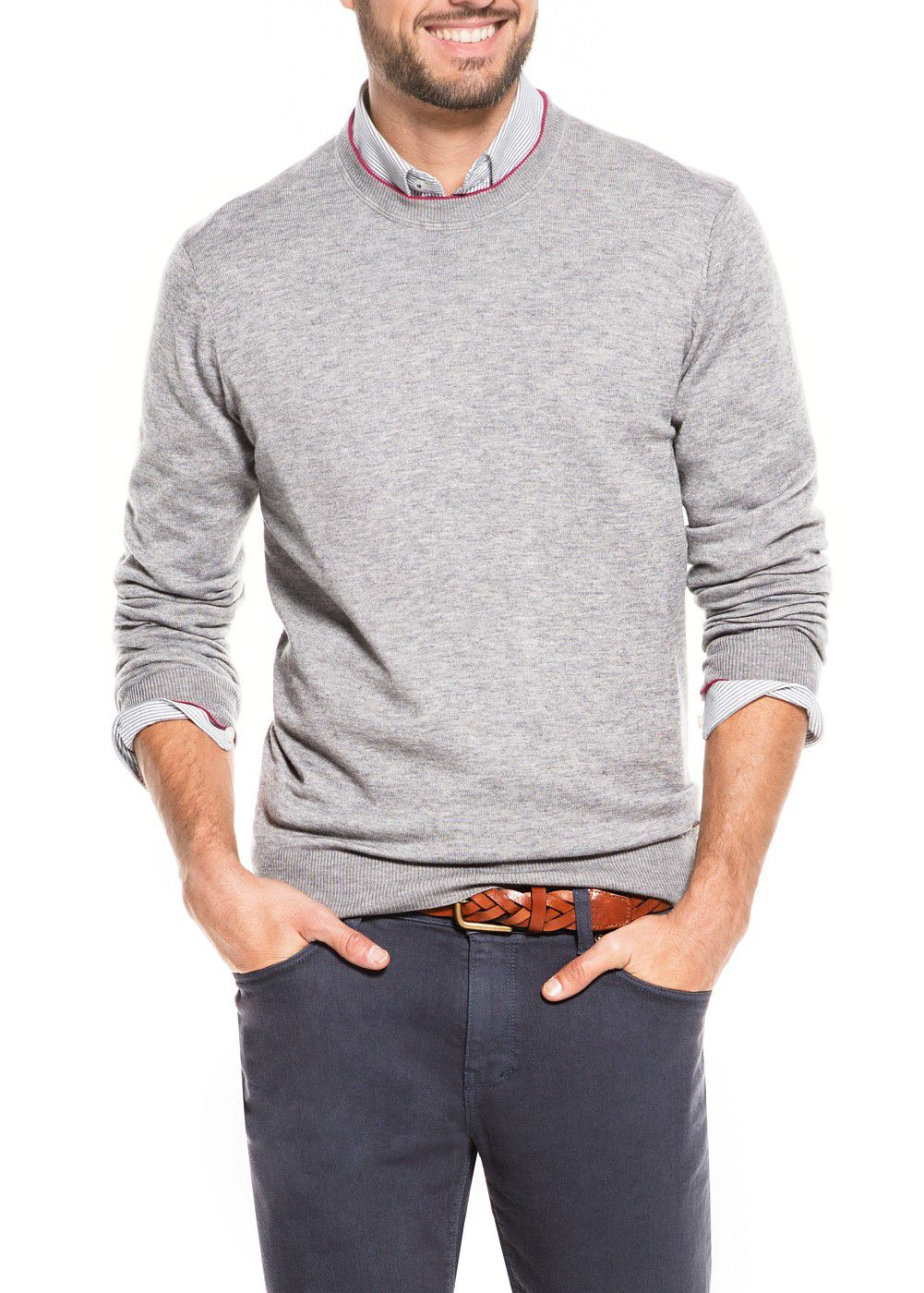 Fine knit wool-blend sweater