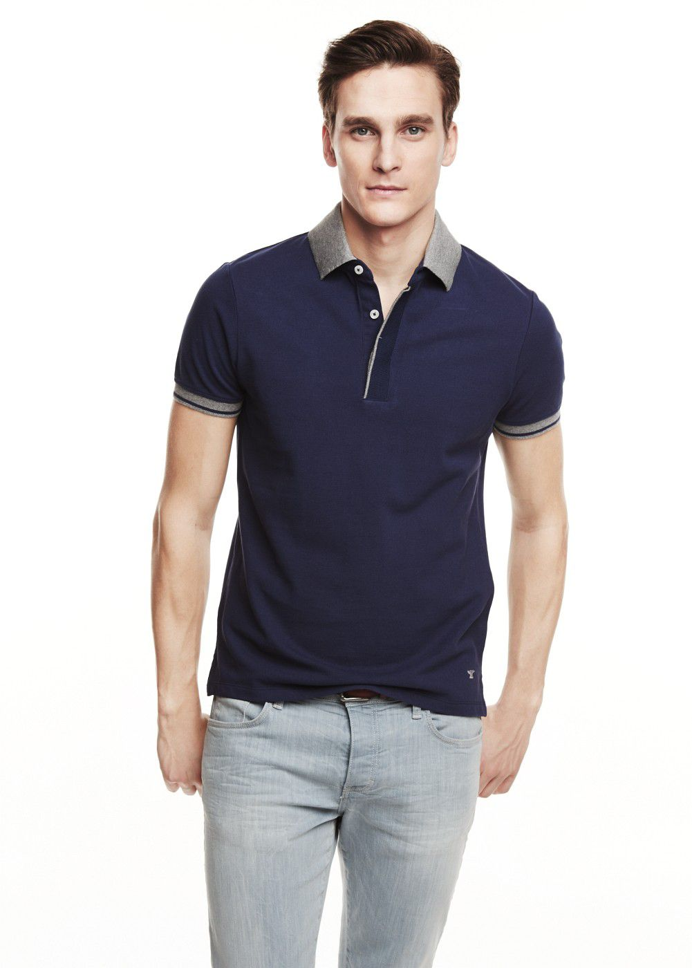 Contrast trim polo shirt