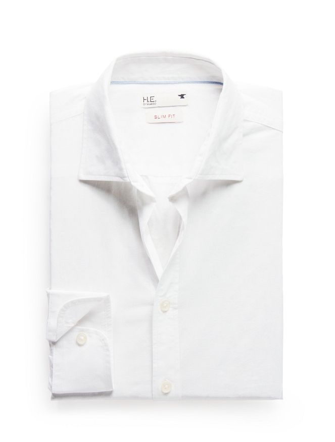Slim-fit voile shirt