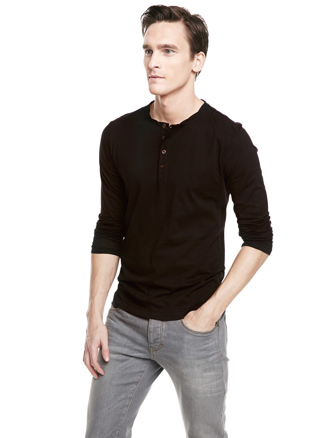 Cotton henley t-shirt