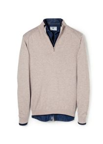 Elbow-patch wool-blend sweater