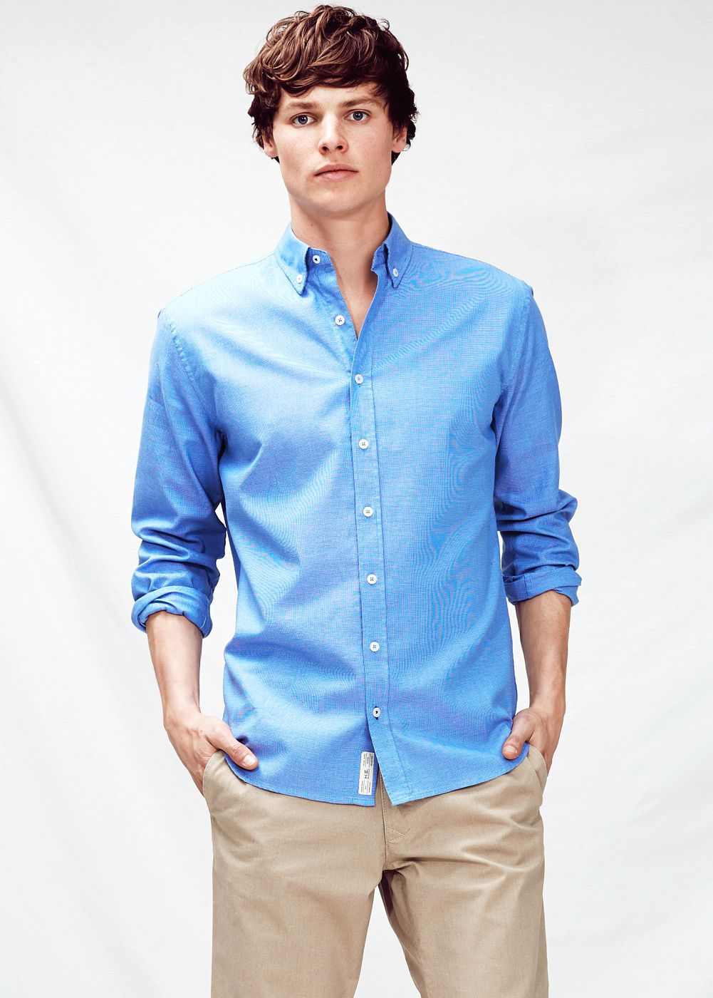 Classic-fit textured shirt