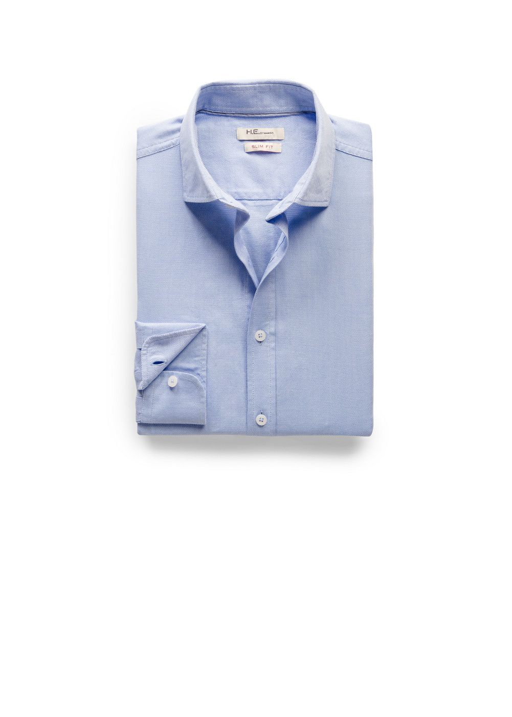 Slim-fit textured shirt