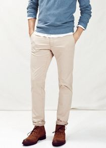 Slim-fit garment-dyed chinos