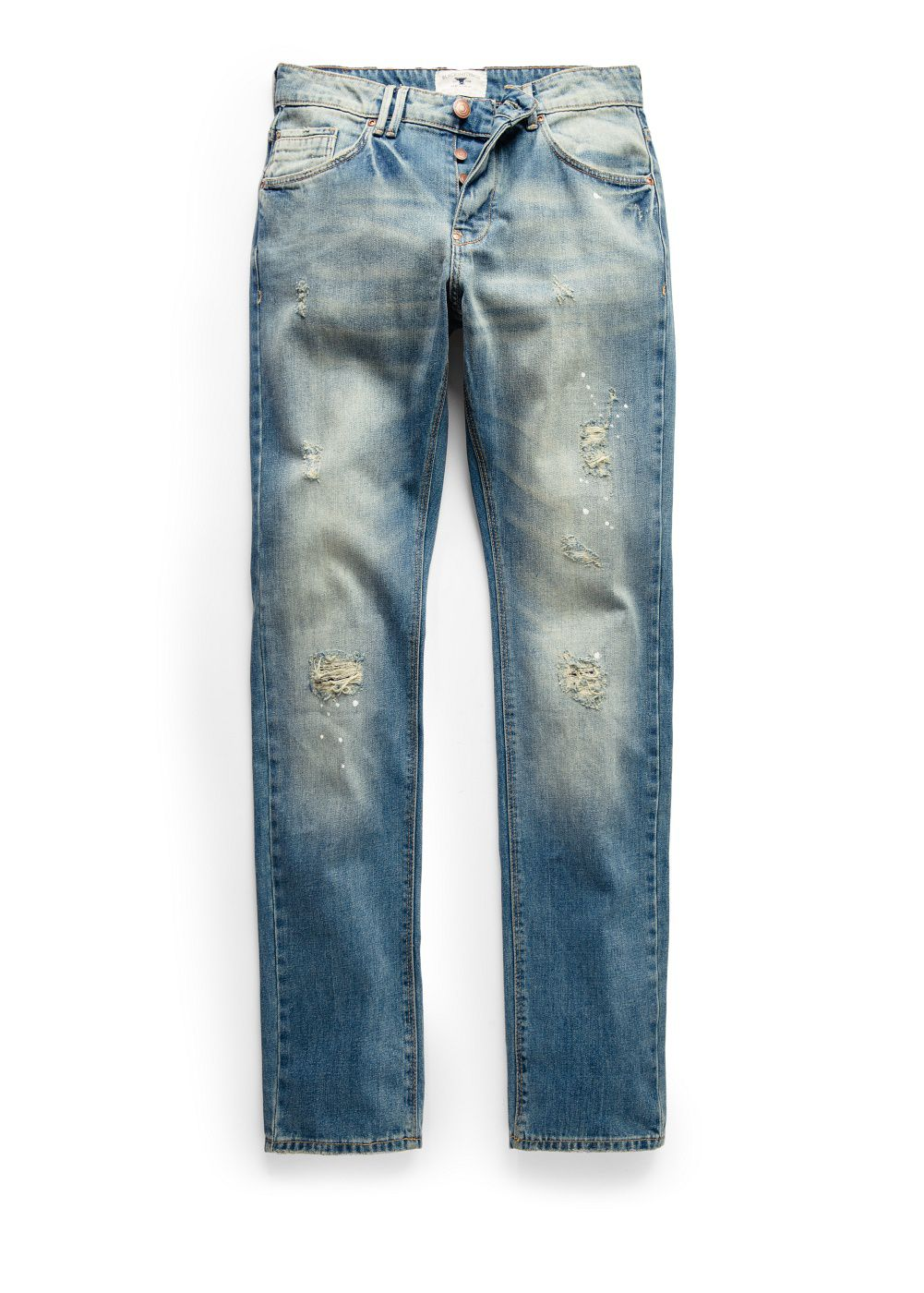 Slim-fit light wash Steve jeans