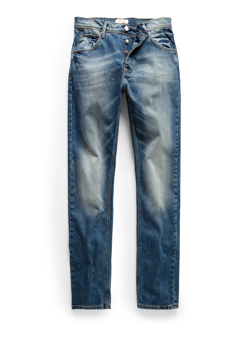 Straight-fit vintage wash Bob jeans