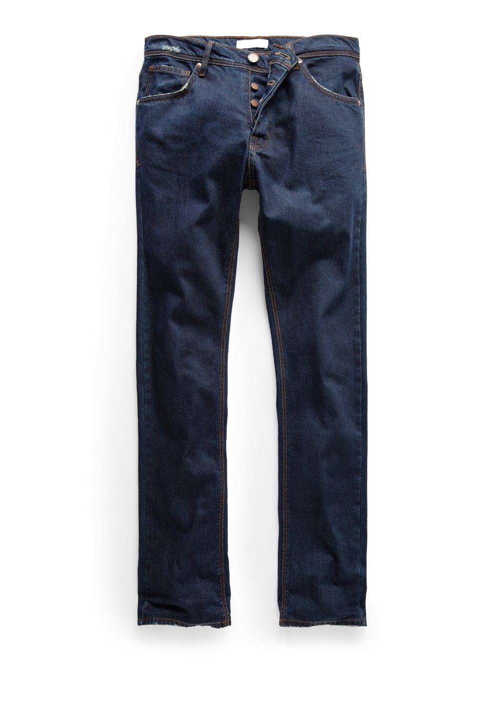 Straight-fit dark Bob jeans