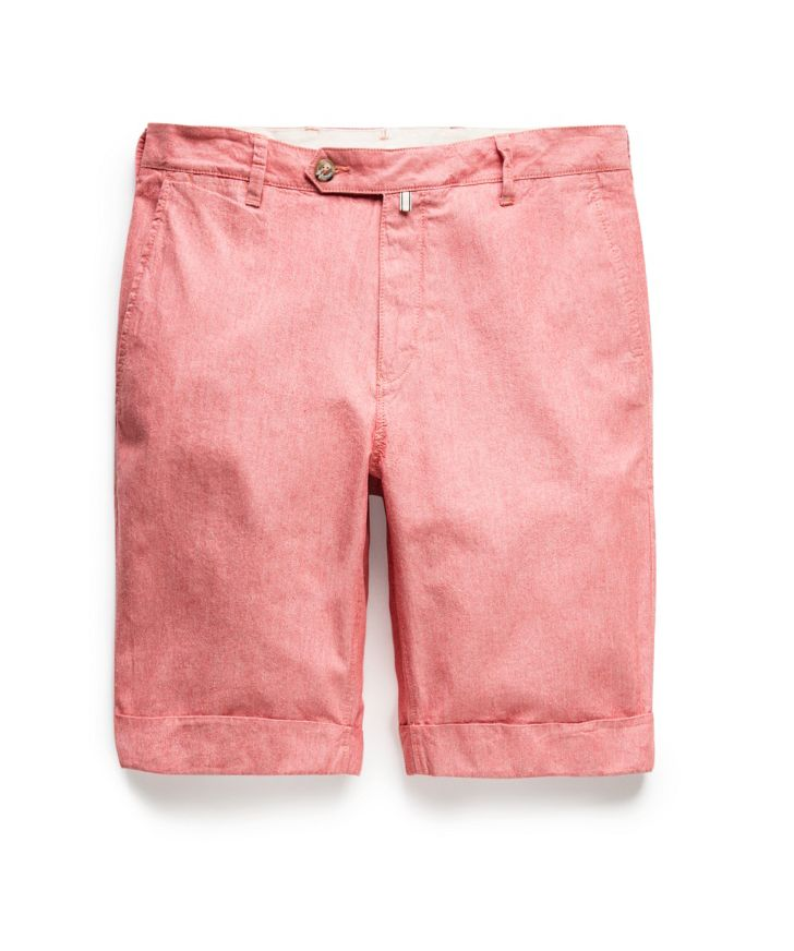 Cotton oxford bermuda shorts