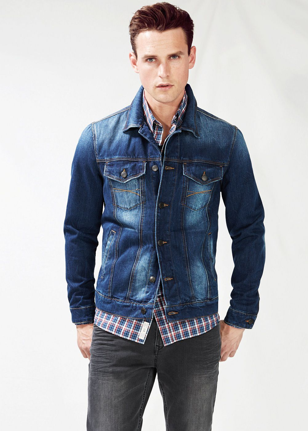 Dark wash denim jacket