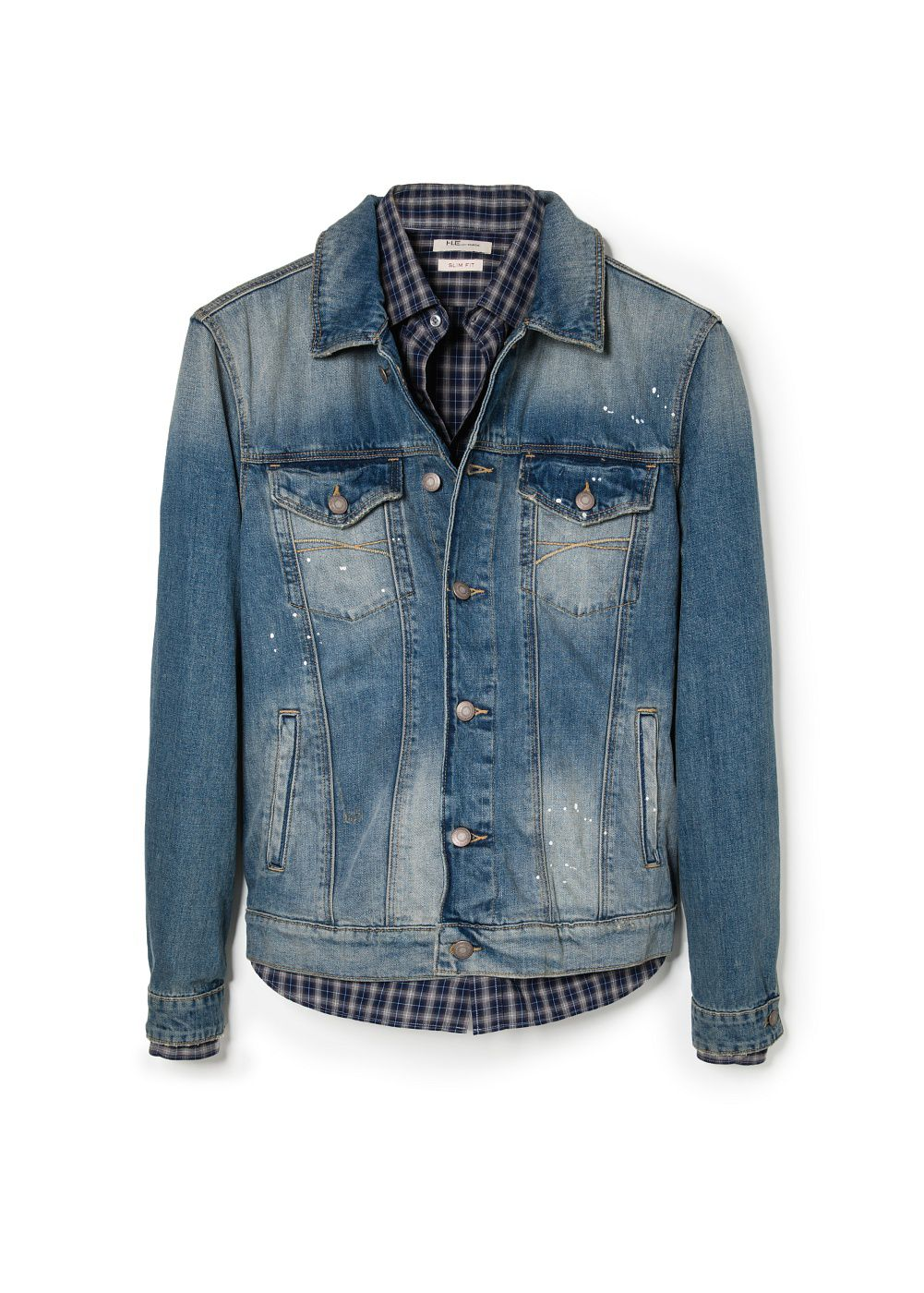 Vintage wash denim jacket