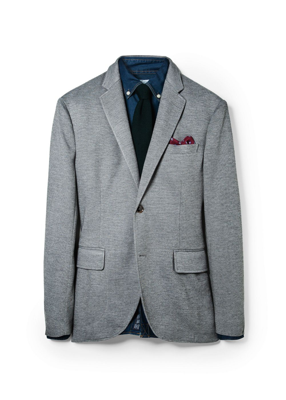 Slim-fit cotton pique blazer