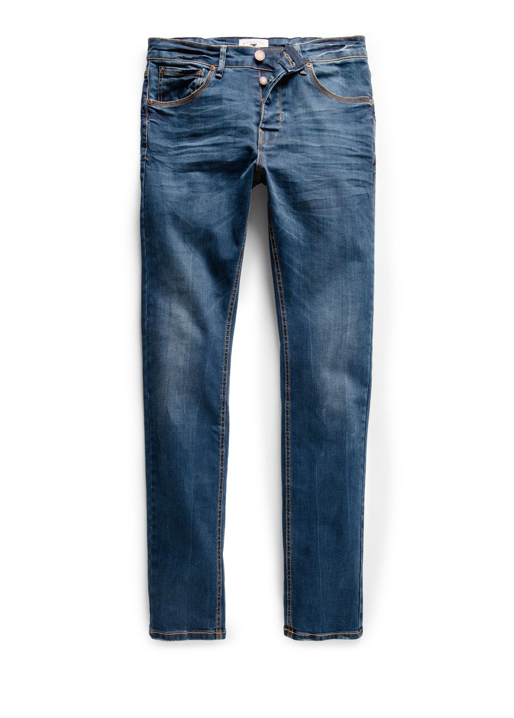 Slim-fit navy Tim jeans