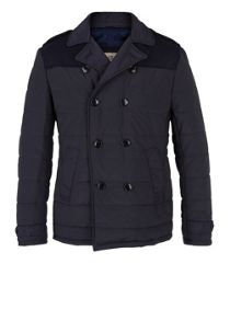 Quilted peacoat
