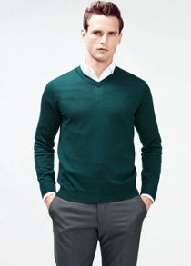 Silk wool-blend sweater
