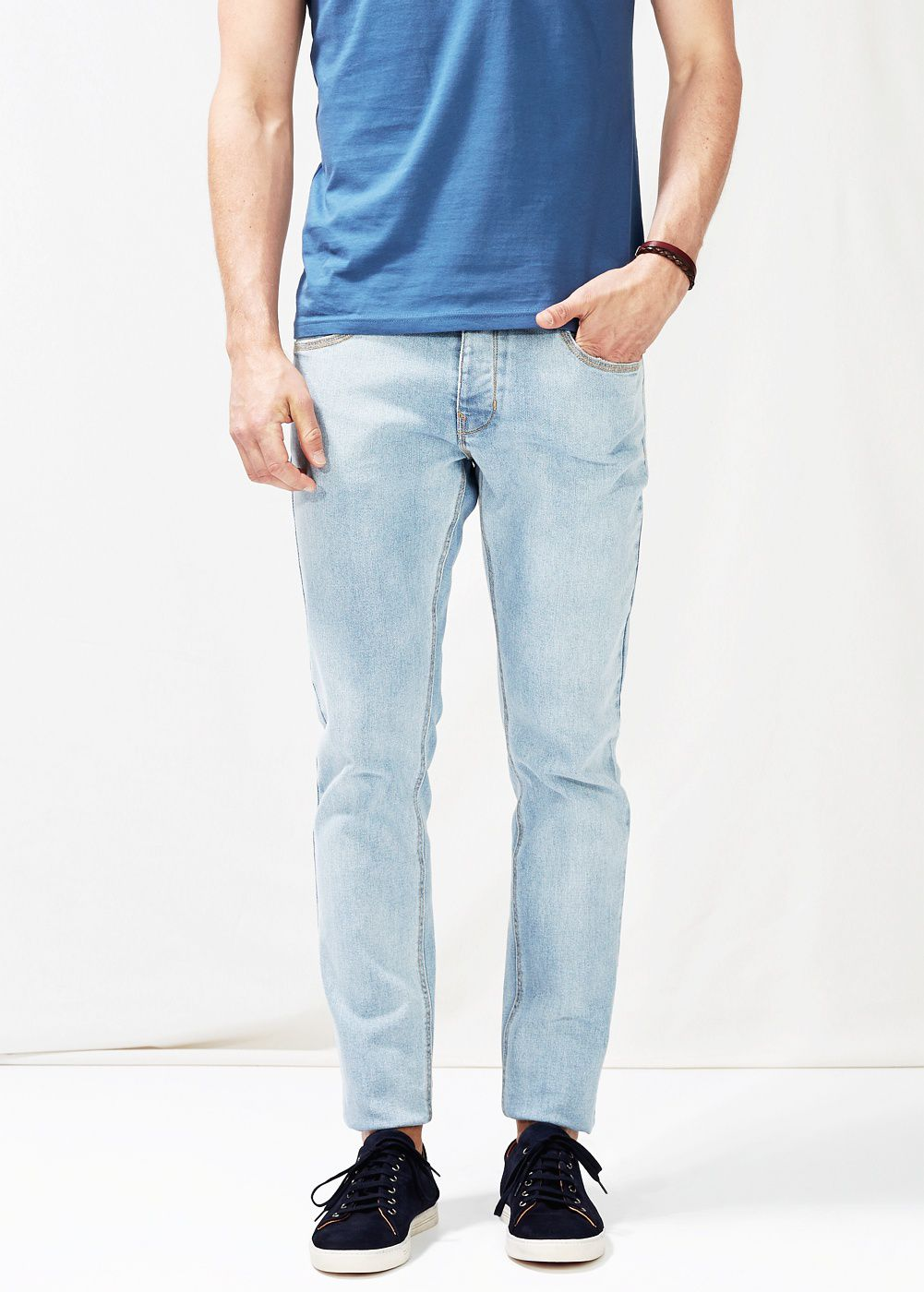 Slim-fit bleached wash Tim jeans