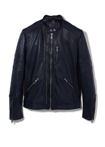 Casual Showerproof Full Zip Leather