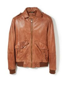 Casual Full Zip Leather