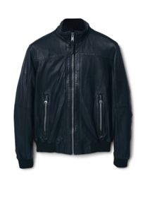 Berpy zip leather jacket