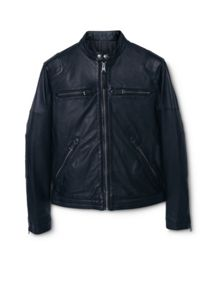 Mango Cuir leather biker jacket