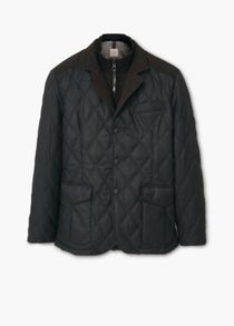 Lapel quilted jacket
