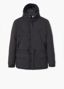 Detachable hood quilted coat