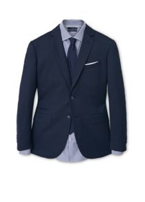 Mango Birds Eye Suit Blazer