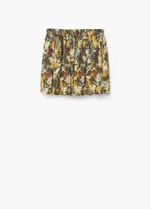 Mango Girls: Floral print skirt
