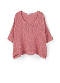 Mango Cotton linen-blend sweater