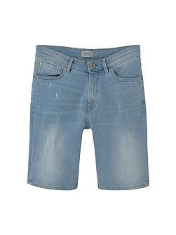Light wash denim bermuda shorts